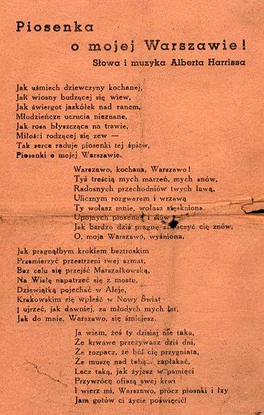piosenka o Mojej Warszawie